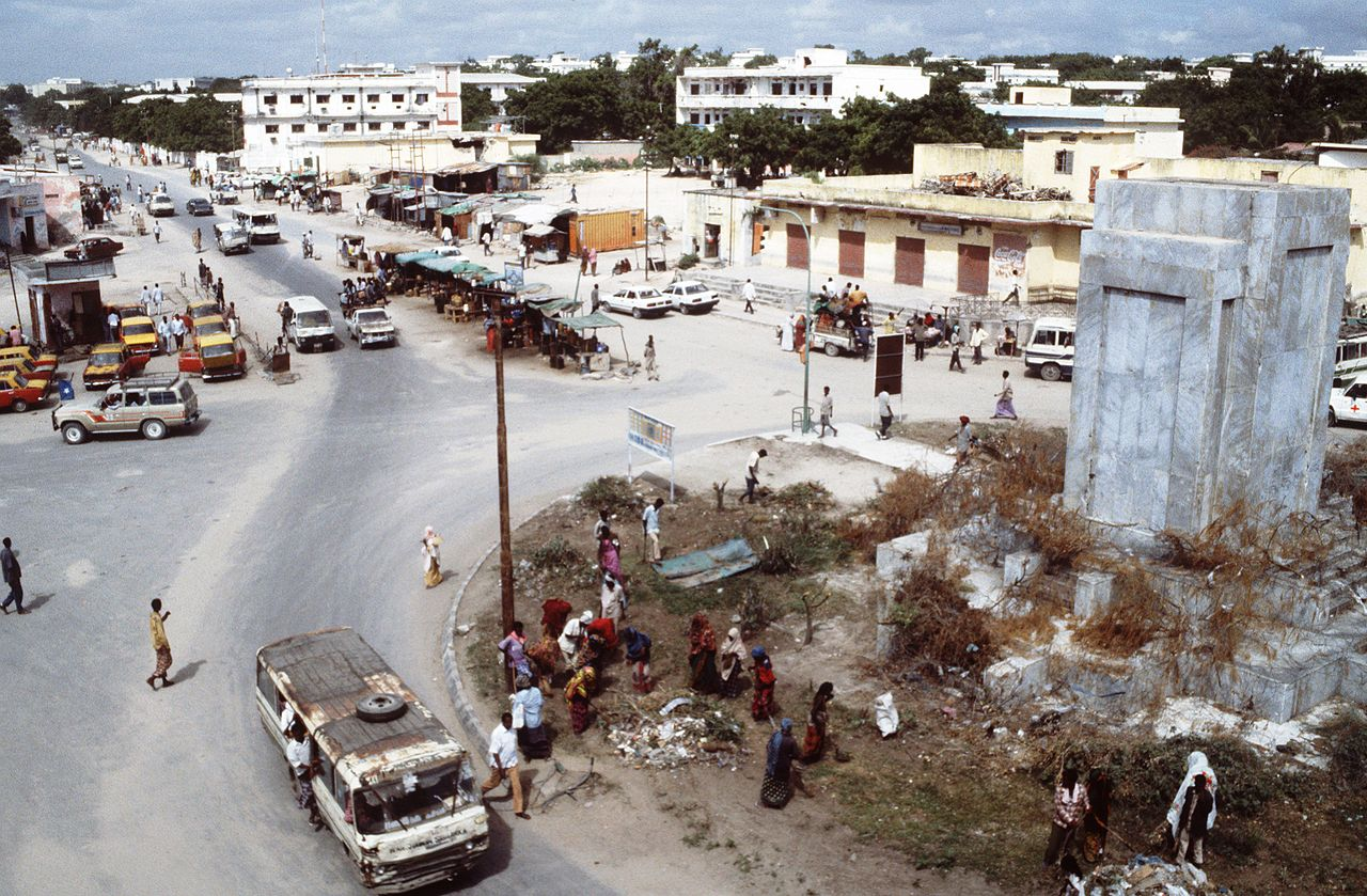 Mogadishu, capital of Somalia, a First World country defined so by its status as a British protectorate